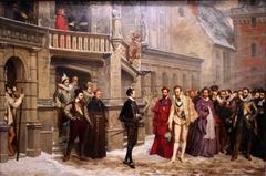 La Rencontre d'Henri III et du duc de Guise by Pierre-Charles Comte
