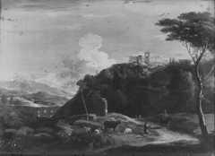 Landscape with a Hill Town