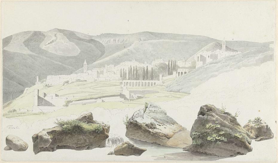 Landschap en stadsgezicht bij Tivoli
