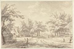 Landschap met enkele boerderijen