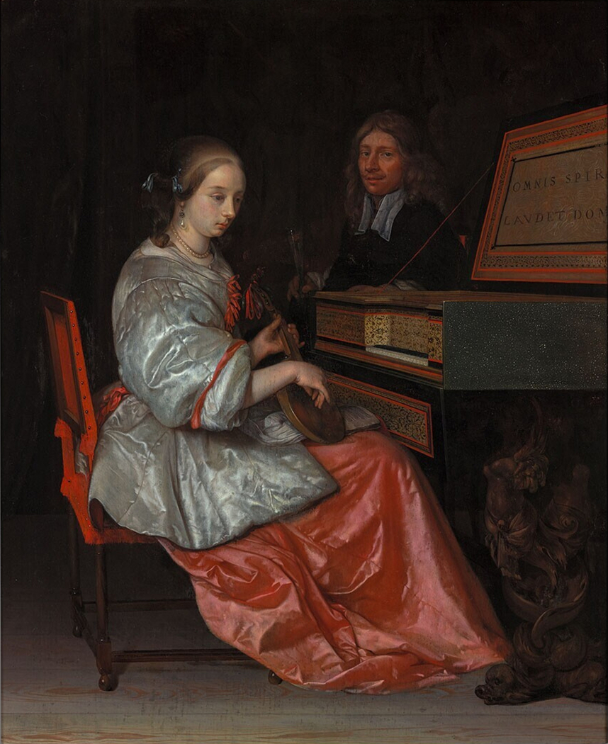 Lute Player Seated at a Virginal