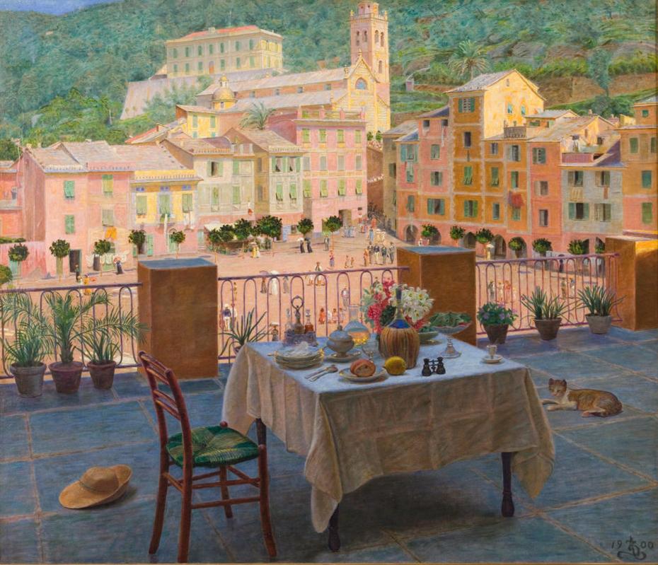 Ma table de petit déjeuner à Portofino