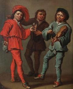 Merry company of three