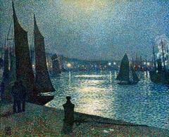 Moon night in Boulogne