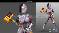 3D Morn Cartoon Character Modeling USA, San Francisco