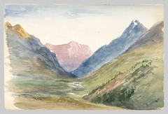 Mountain View at Bormio (from Switzerland 1869 Sketchbook)
