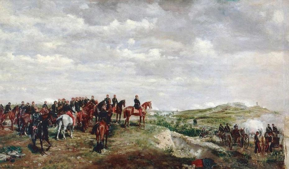 Napoleon III at the Battle of Solferino