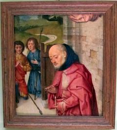 Nativity fragment with Joseph & two shepherds