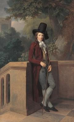Nicolas Châtelain in the garden