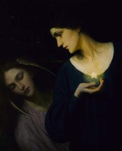 Night and Her Daughter Sleep