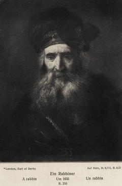 Old man with beard and high turban
