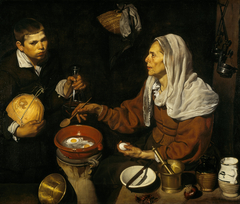 Old Woman Cooking Eggs