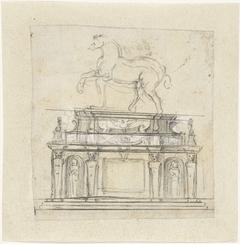 Ontwerp voor een ruiterstandbeeld van Hendrik II van Frankrijk