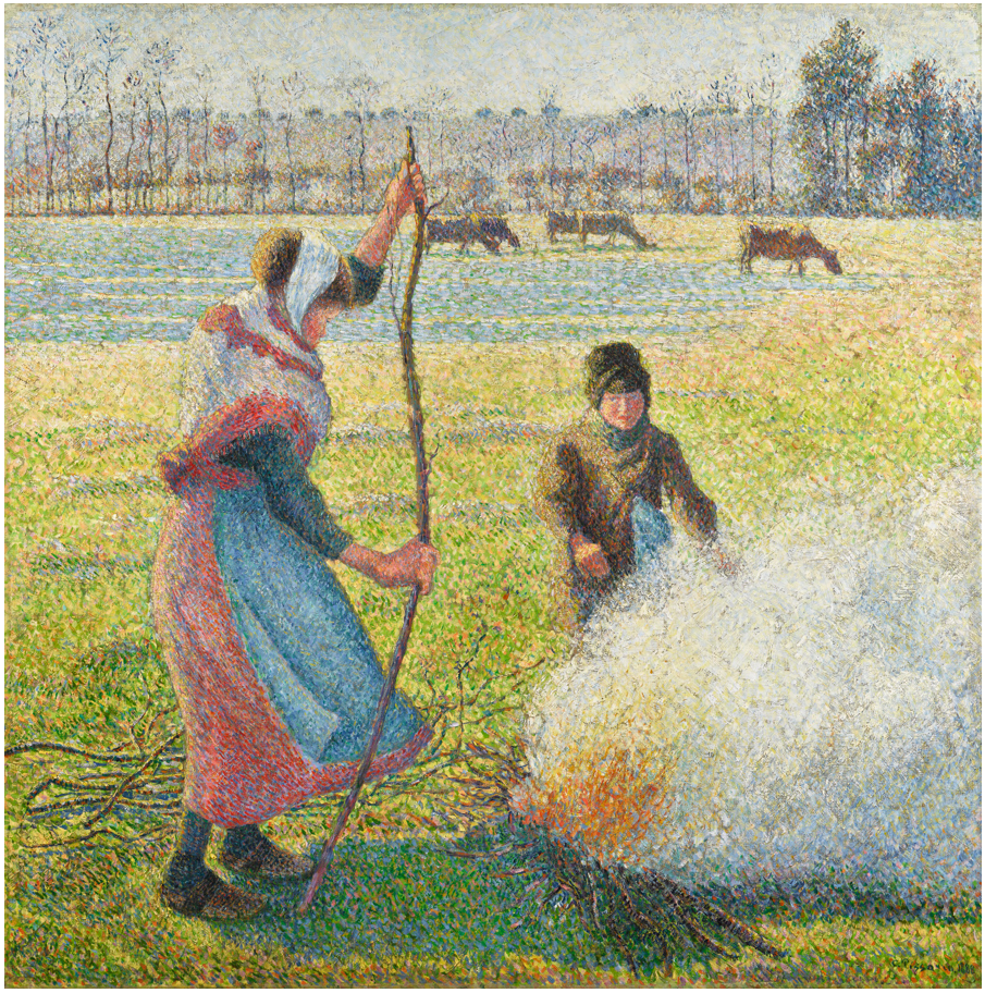 Peasant Girl Making a Fire, Hoar Frost