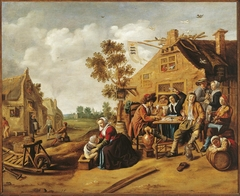 Peasants near a tavern