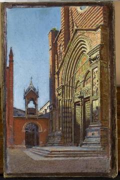 Portal of the church of St. Anastasia in Verona