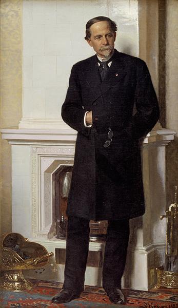 Portræt af arkitekten F. Meldahl