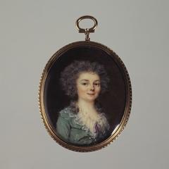 Portrait en buste d'une jeune femme