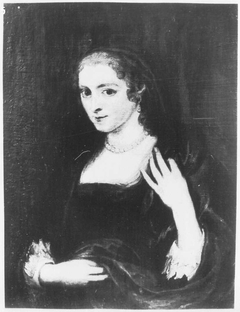 Portrait of a Blond Woman in a Black Veil