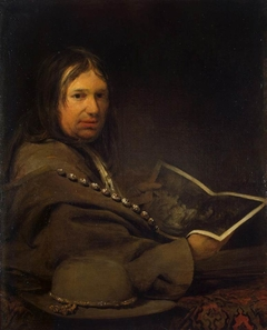 Portrait of a Collector (Self-Portrait with Etching by Rembrandt ?)