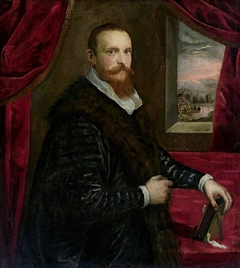 Portrait of a man with a book.