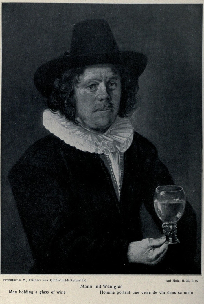 Portrait of a with Wine Glass