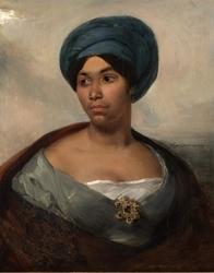 Portrait of a Woman in a Blue Turban