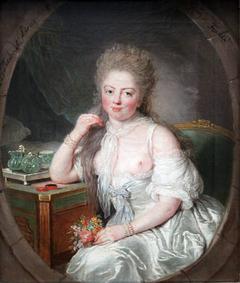 Portrait of a woman in negligée