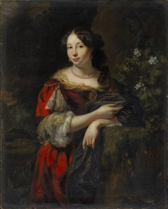 Portrait of a Young Lady in a Garden