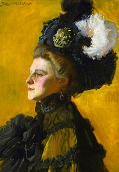 Portrait of artist's wife, Jadwiga (nee Janakowska)