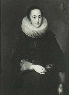 Portrait of Maria Nutius (-), wife of Jacob de Witte (1591-1631), ca. 1618-1619