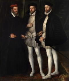Portrait of the Brothers Gaspard (1519-1572), Odet (1517-1571) and François (1512-1569) de Châtillon-Coligny