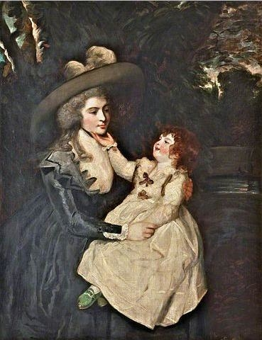 Portrait of the Widow Mrs. Seaforth and Child