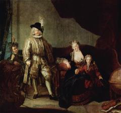 Portrait von Erlach with his Family