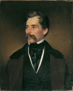 Porträt eines grauhaarigen Herrn mit Schnurrbart
