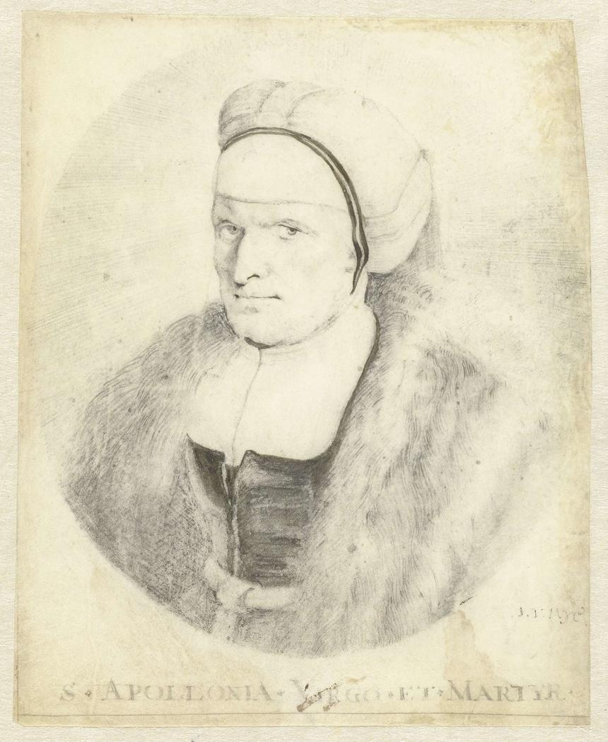 Portret van een onbekende vrouw in een ovaal, iets naar links