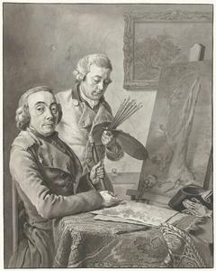 Portret van Jacob de Vos I en de schilder Wybrand Hendriks