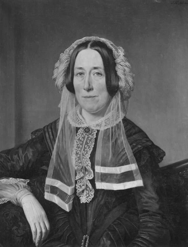 Portret van Jacoba van der Breggen Paauw (1804-1858), echtgenote van Jan Pieter van Mansvelt