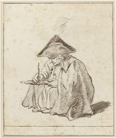 Portret van Joseph Marinkelle, zittend tekenend