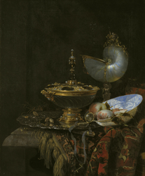Pronk Still Life with Holbein Bowl, Nautilus Cup, Glass Goblet and Fruit Dish