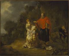 Prophet Elisha and the Shunammite woman on Mt. Carmel
