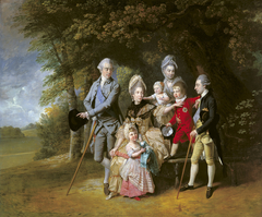 Queen Charlotte (1744-1818) with members of her family