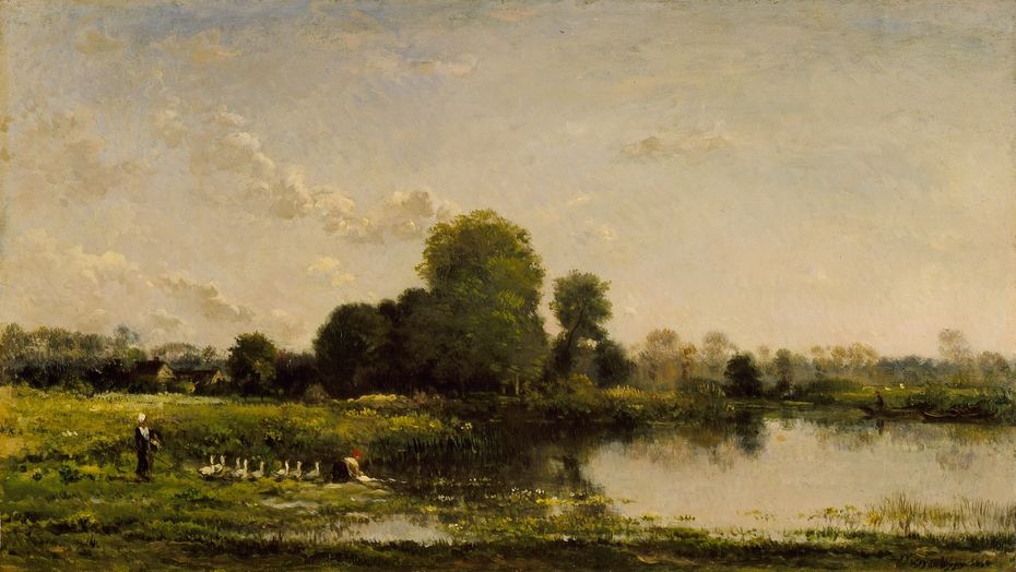 Riverbank with Fowl