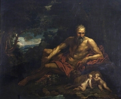 Romulus and Remus with the Tiber River God