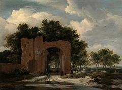 Ruins of the gate of Huis ter Kleef near Haarlem