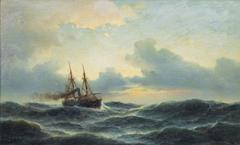 Sailing Steamer at Sea