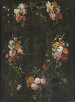 Saint Francis Xavier in a Garland