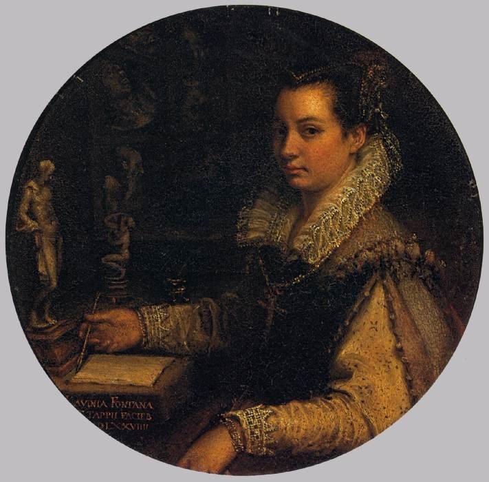 Self-portrait in Uffizi