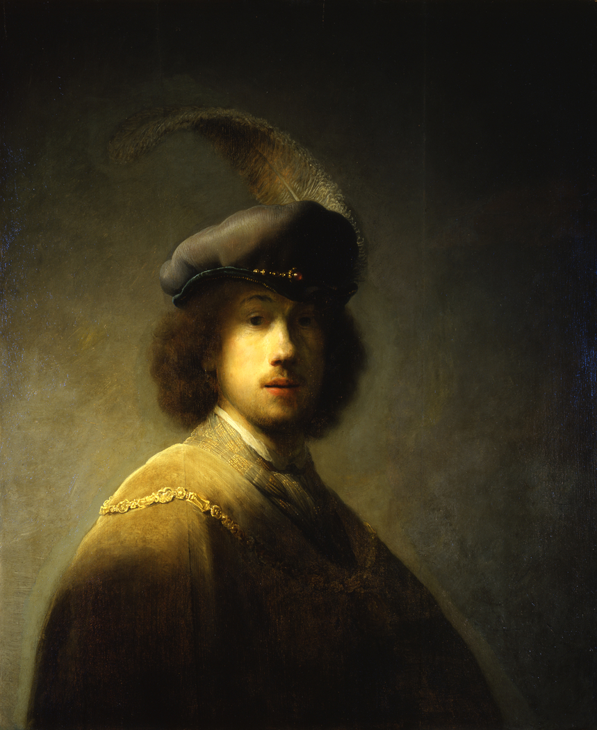 Self-portrait with Feathered Beret
