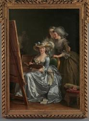 Self-Portrait with Two Pupils, Marie Gabrielle Capet (1761–1818) and Marie Marguerite Carreaux de Rosemond (died 1788)